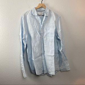 Essentials Men's Slim-Fit Long Sleeve Shirt, Large